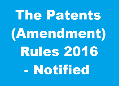 indian patent rules 2016 pdf