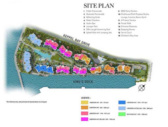 Corals @ Keppel Bay Floor Plan