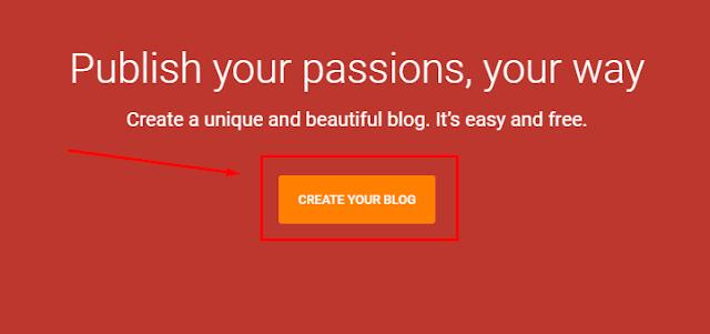 Cách tạo blog từ blogspot