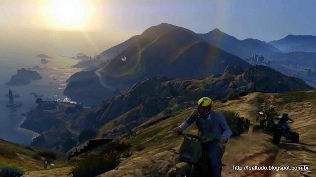 Grand Theft Auto Online Bike Race Mountains - Corrida Motos Montanha