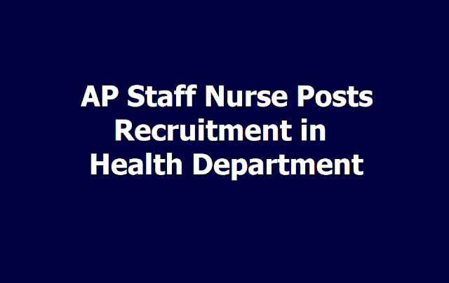 AP Staff Nurse Posts 2019 Recruitment