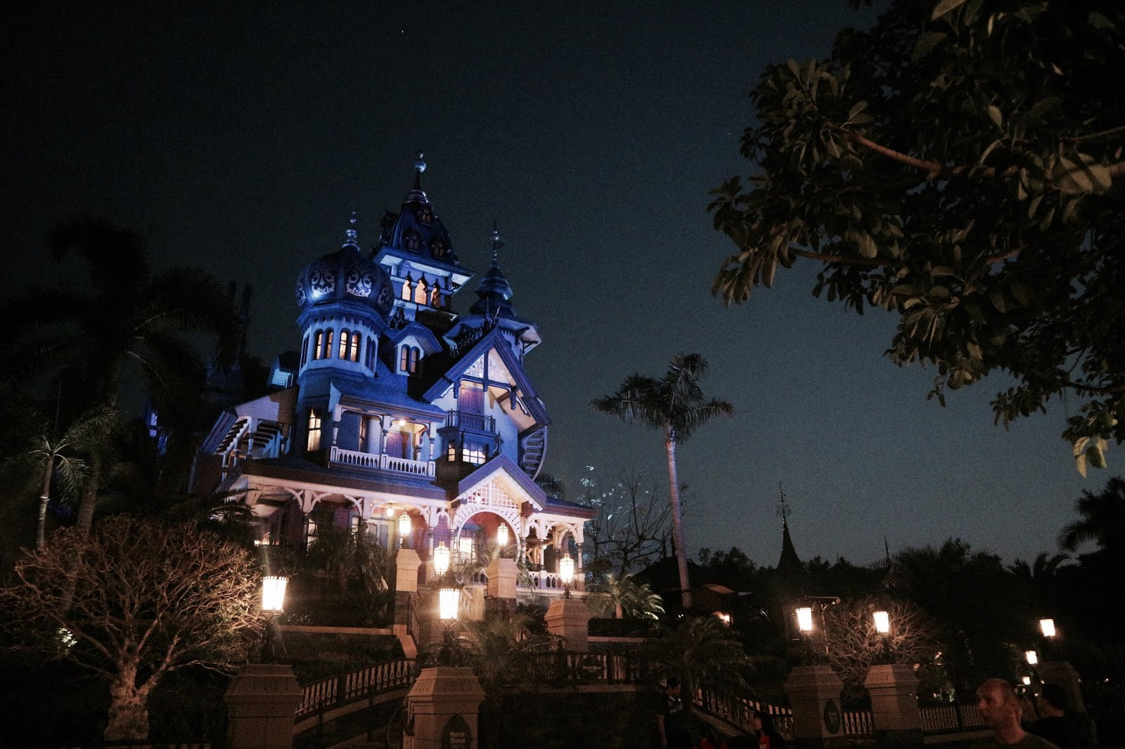 Photo Of Mystic Manor At Night Hong Kong Disneyland