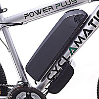 36V 8.8AH lithium battery on Cyclamatic Power Plus CX1 Electric Mountain Bike