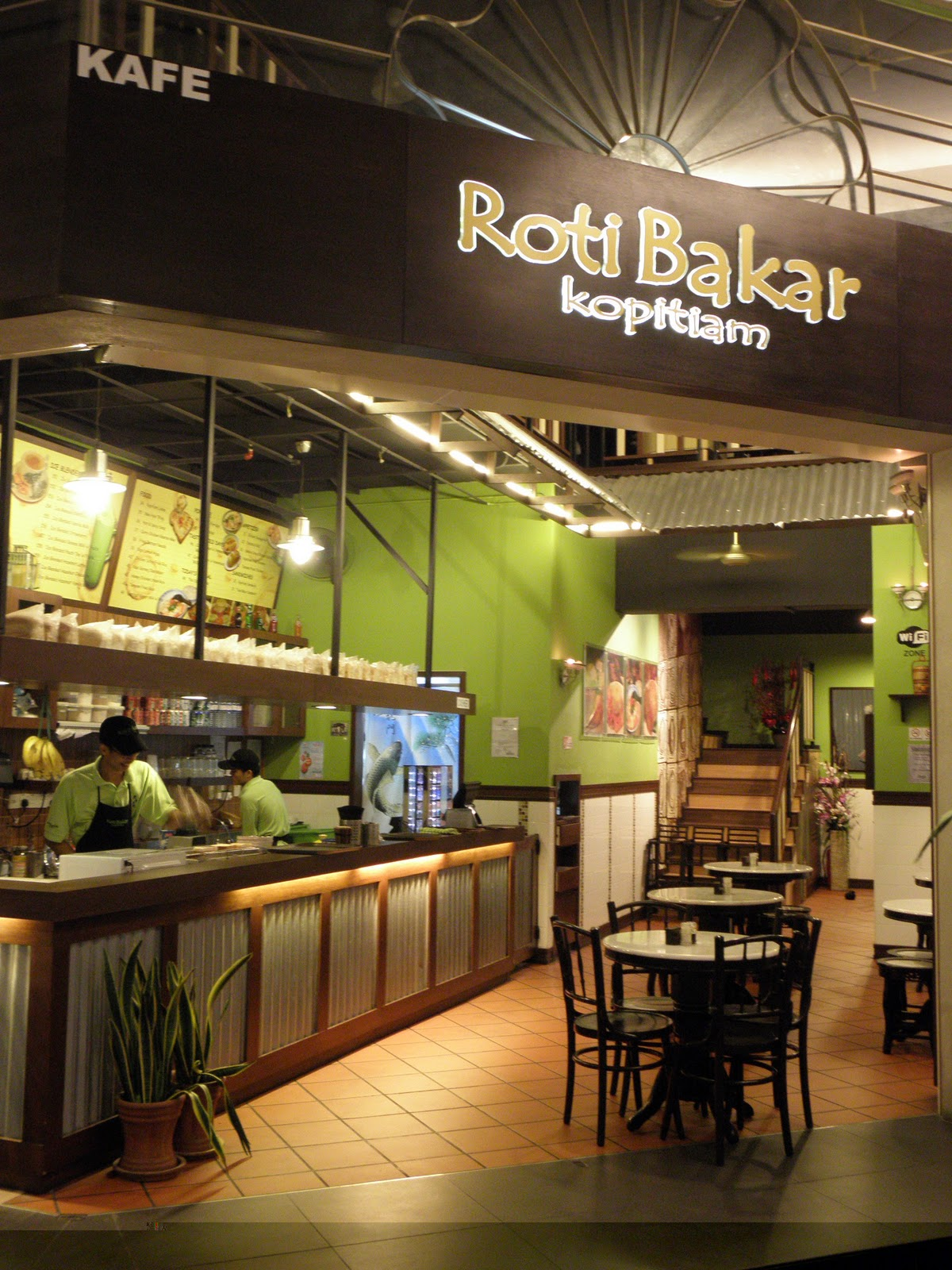 To Our Dearest Daughters: Dinner at Roti Bakar Kopitiam, Penang Times Square with po po; Dinner