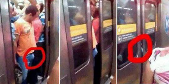 Penis kejepit pintu kereta api
