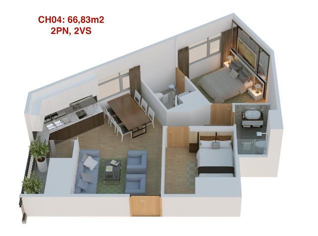 Thiết kế căn hộ 04 tháp doanh nhân