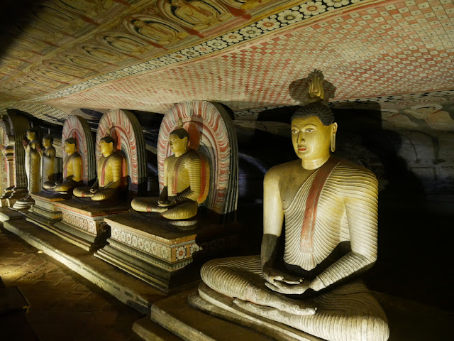 Dambulla cave temple paintings - Sri Lanka