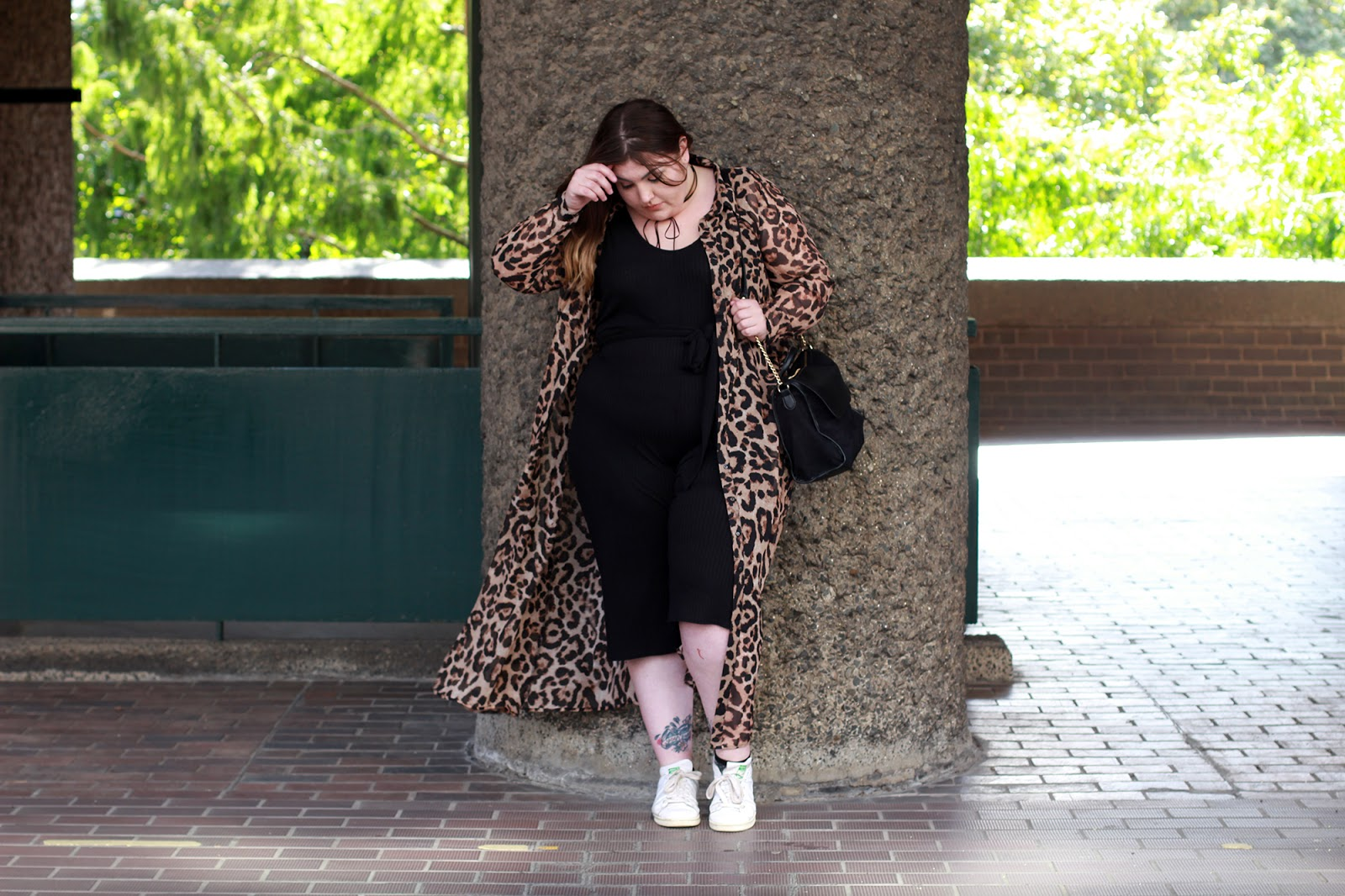 Boohoo Plus Gracie Jumpsuit Simply Be Leopard Print Maxi Dress