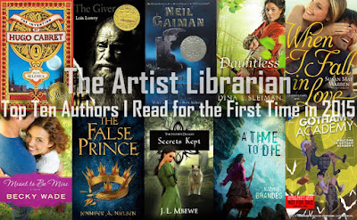 A photo of The Artist Librarian's Top Tuesday: Authors I Read for the First Time in 2015