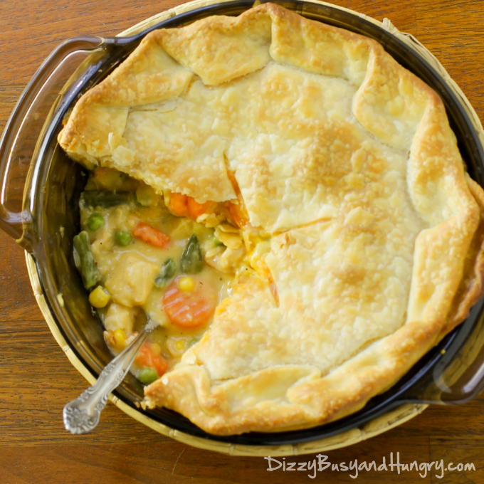 super easy chicken pot pie dizzy busy and hungry
