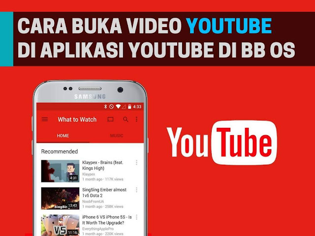 Cara Buka Video Youtube di Aplikasi Youtube Pada BlackBerry OS Tutorial Buka Video Youtube di Aplikasi Youtube Pada BlackBerry OS