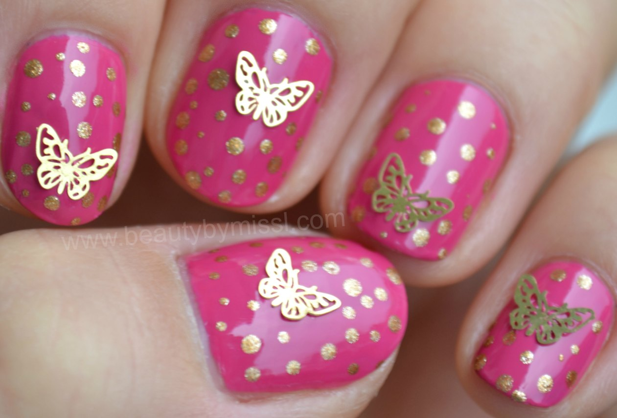 dotticure, nails of the day, notd, butterflies