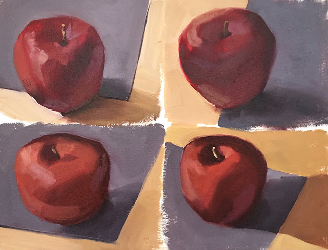 twisted twenties - simple apple still life exercises Apr 6 2019