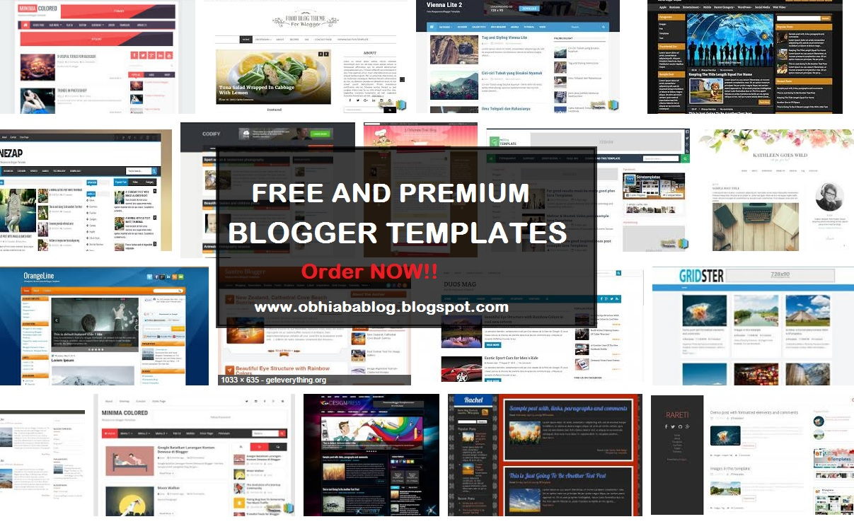 Premium And Free Blogger Template