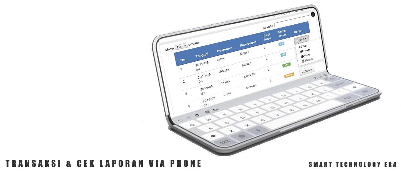 Aplikasi restoran kasir online android iphone windows murah