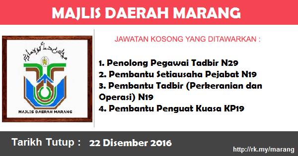 Jawatan Kosong Majlis Daerah Marang