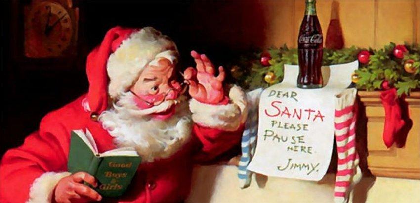 Babbo Natale, Coca Cola, leggenda metropolitana