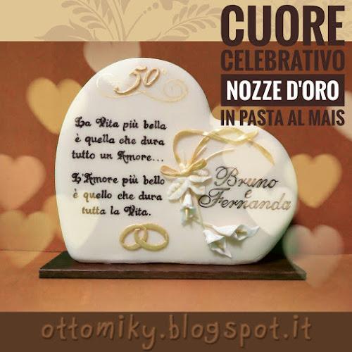 Anniversario Di Matrimonio Nozze Doro.Otto Miky Cuore Nozze D Oro