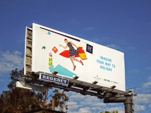 Gap Kids Kate Spade Holidays billboard
