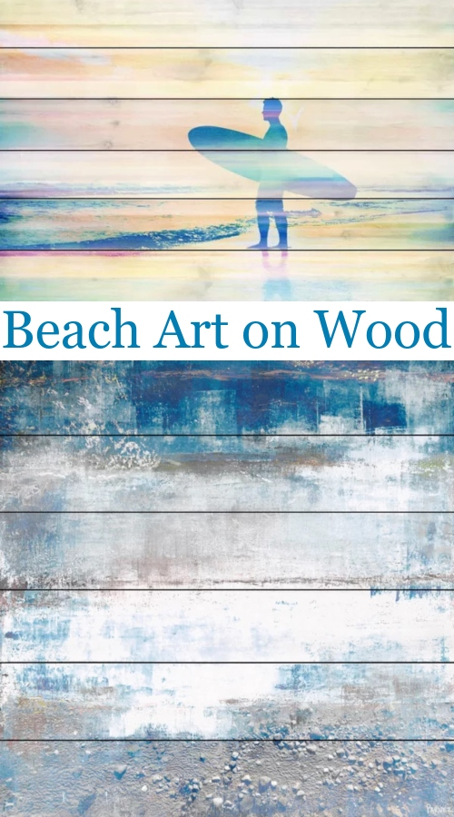 Beach Art Prints on Wood
