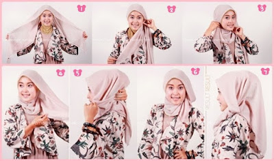 tutorial hijab paris formal