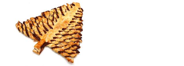Feuilleté au Nutella en forme de sapin
