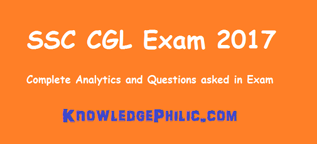 SSC CGL Exam Analytics Tier I 2017 5th Aug Slot 1, Paper was Easier than last Year!