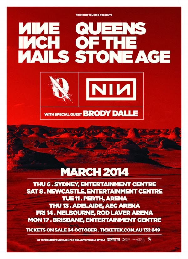 Set List: Nine Inch Nails & Queens of the Stone Age @ Sydney ...