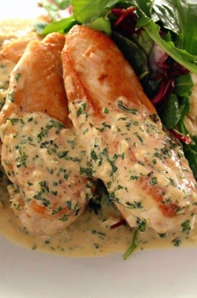 fried chicken breasts with dijon herb sauce recipe