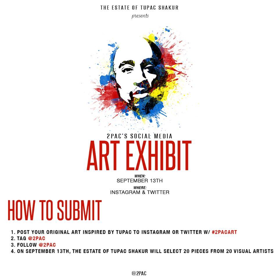 Tupac Shakur Estate Announces Social Media Art Exhibit - THE