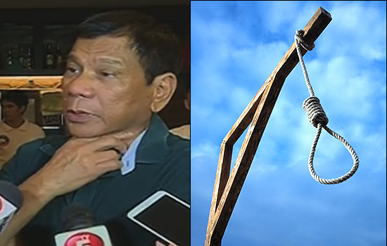 Presumptive president Rodrigo Duterte to restore 'Death Penalty'