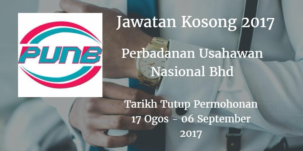 Jawatan Kosong PUNB 17 Ogos -  06 September 2017