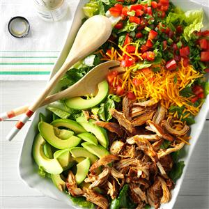 Slow Cooker Chicken Taco Salad~ source:tasteofhome.com