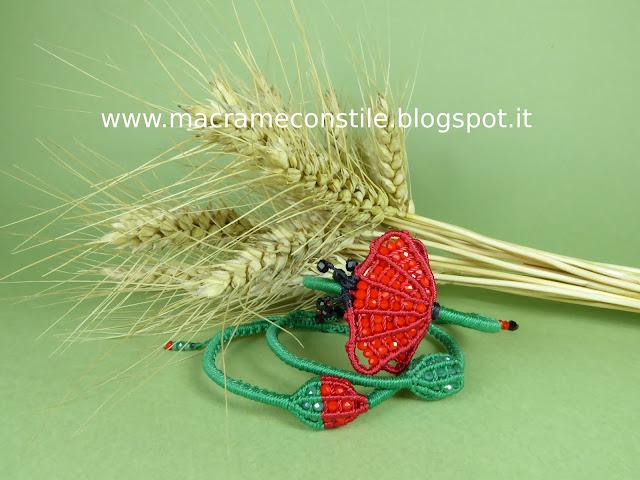 #MARGARETENSPITZE papavero e boccioli friendship bracelet indossato