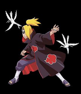 Deidara-Akatsuki-personagens-naruto