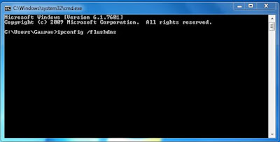 ipconfig /flushdns in Command Prompt