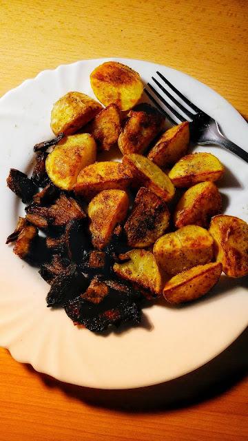 Pečené brambory s hlívou