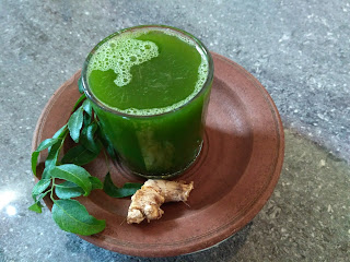 Curry leaves, Ginger juice