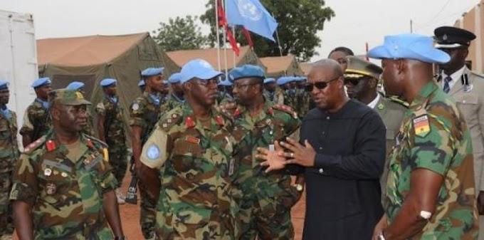 Mahama doesn't need a gun – Army boss