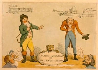 Charles Incledon et John Braham caricature
