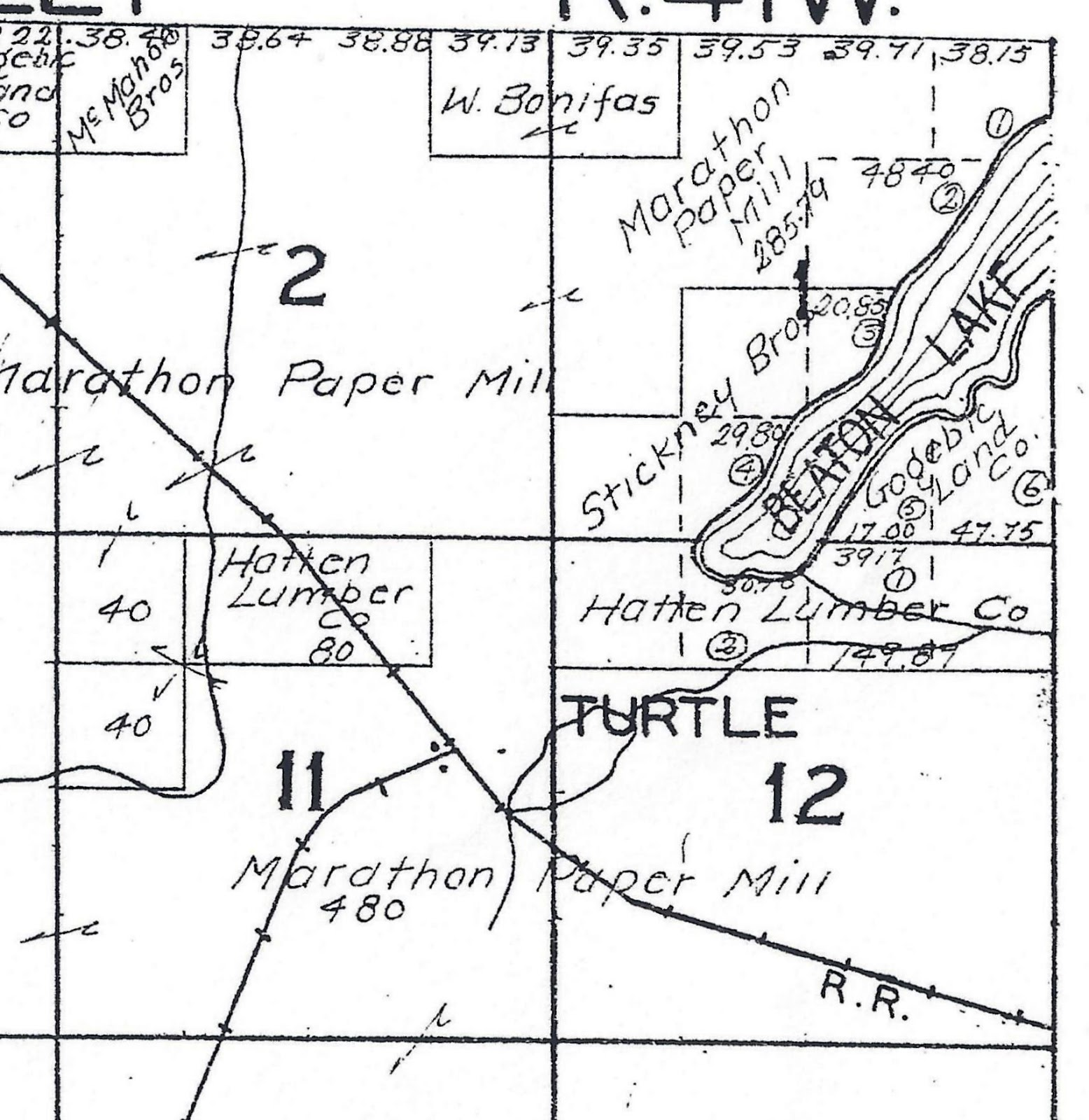 Hixson plat map gogebec county 1920