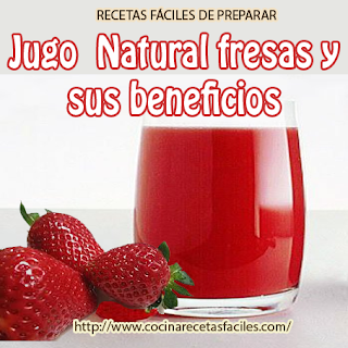 Receta de jugo natural de fresas✅Esta es una bebida muy saludable y refrescante, las fresas frescas están llenas de vitamina C y antioxidantes.