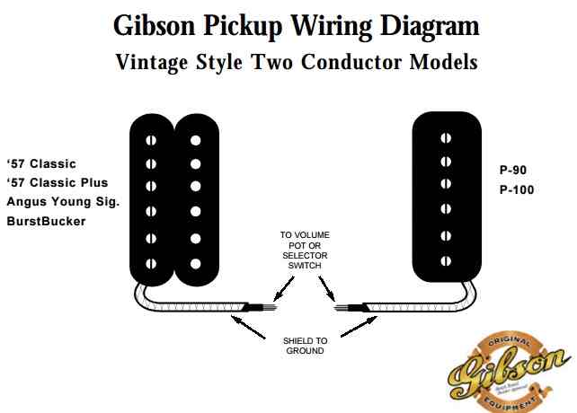gibson 57 pick up wire diagram