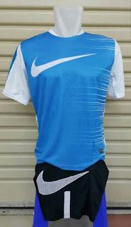 gambar dan detail jual online baju bola futsal Jersey setelan futsal Nike Flash Top warna putih biru terbaru 2015/2016