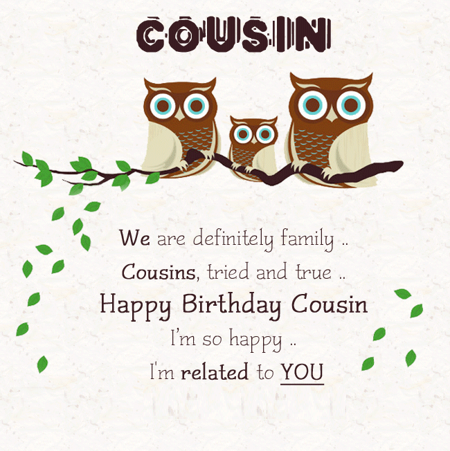 Happy Birthday Cousin Quotes   2019 Happy Birthday Cousin Awesome Birthday Quotes And