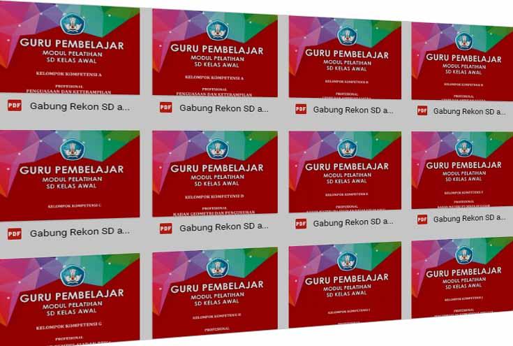 Modul Guru Pembelajar Kelas Awal Sekolah Dasar Lengkap Semua Materi Kurikulum 2013 Revisi