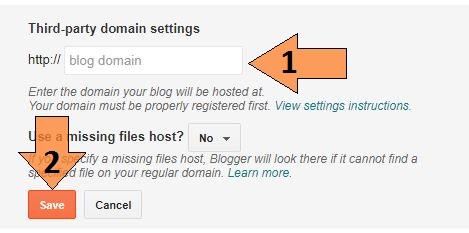Blogspot me domain name kaise change kare ?
