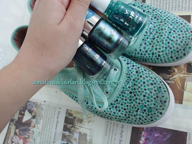 DIY | Kendin Yap | Ayakkabılarımı, Ojelerle Boyadım!