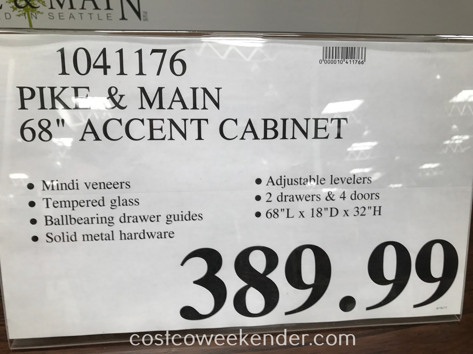 Deal for the Pike and Main Accent Console at Costco