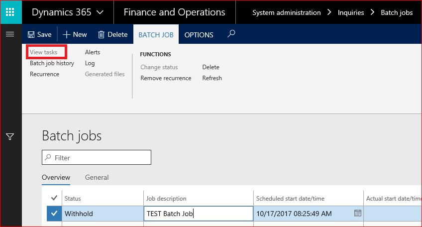 Create A Batch Job In D365 Ax And Create New Batch Job Alert